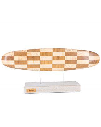obra de arte madera surf
